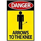 (13x19) Danger - Arrows To The Knee Video Game Poster