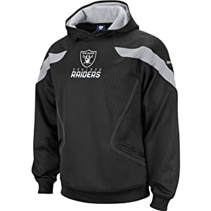 Reebok Oakland Raiders Big & Tall Sideline Kickoff Hooded Sweatshirt 4 XLARGE by Reebok