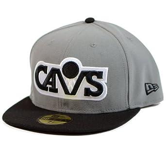 NBA Cleveland Cavaliers Storm Gray Black 2 Tone Basic 5950 By New Era by New Era