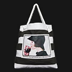 Guinness Black White Stripe Lady Drinking Bag