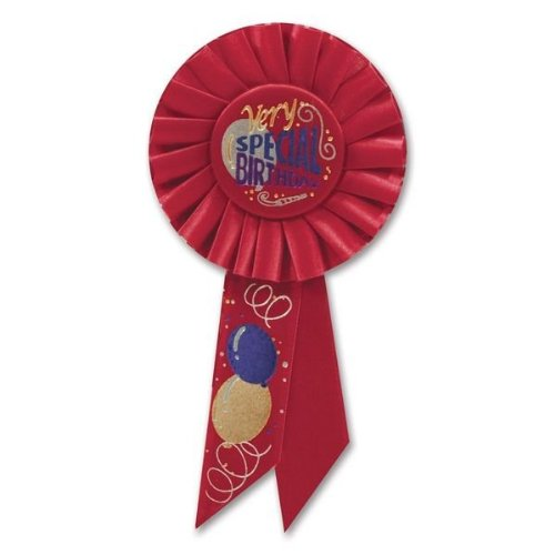 Beistle RS124 Very Special Birthday Rosette, 3-1/4-Inch by 6-1/2-Inch