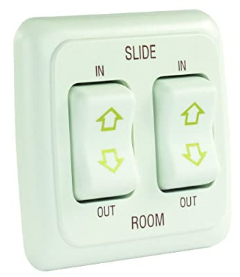 JR Products Double Slide Out Switch Assembly with Bezel