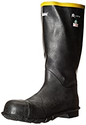 Viking Footwear Men\'s HandyMan Steel Toe Rubber Boot S/T, Black, 12 M US