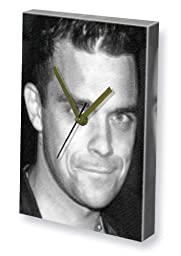 ROBBIE WILLIAMS - Canvas Clock (LARGE A3 - Signed by the Artist) #js003