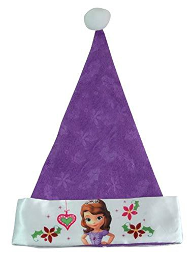 "Disney Sofia the First Princess Purple Santa Hat, 16"" - 1"