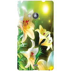 Printland Flowers Phone Cover For Nokia Lumia 535