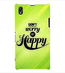 ColourCraft Quotes Back Case Cover for SONY XPERIA Z1 - C6903 / C6906