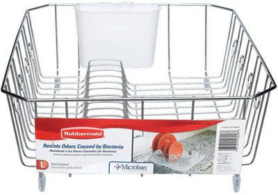 Rubbermaid Large Chrome Dish Drainer