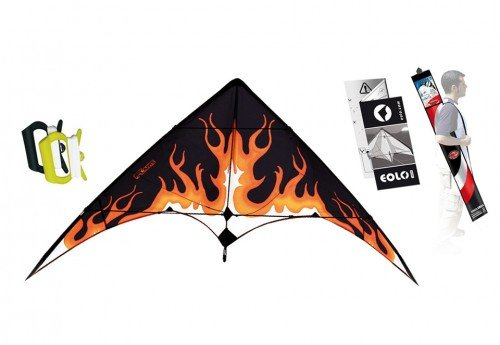 Eolo-Sport Stunt Kite 63-Inch - Flame with Flight Manual