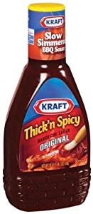 Kraft Thick Spicy Original Barbecue Sauce 18 Ounce Jars Pack Of 12 by Kraft