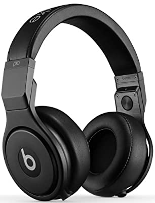 Beats by Dr. Dre Pro Studio Passive Noise Cancellation Over-Ear Headphones (Blackout)