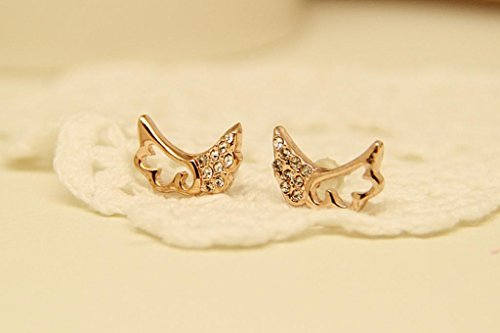 Tq Angel Wings Diamond Earrings