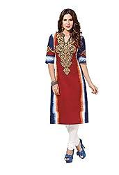 CHINTAN TEXTILES Ethnicwear Women's Kurti Fabrics Multi-Coloured_Free Size