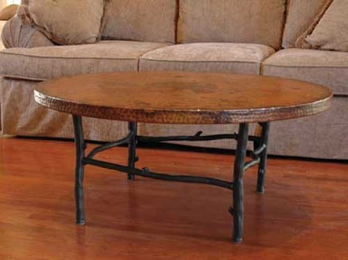 """South Fork Coffee Table With 42"""" Round Top"""