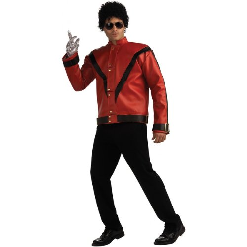 Michael Jackson Deluxe Thriller Red Jacket Costume - Large - Chest Size 42-44