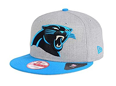 Carolina Panthers Snapback New Era 9Fifty Heather Grand Cap Hat Grey Wool Blue