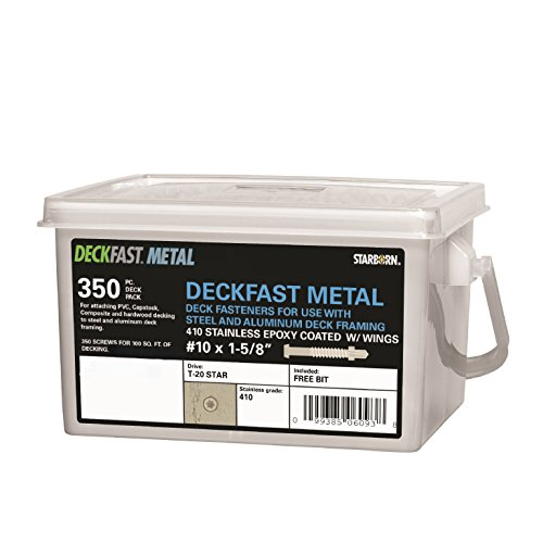 deckfast-metal-warm-gray-54-350-pc-deck-pack-1-5-8-self-drill-type-410-stainless-steel-deck-fastener