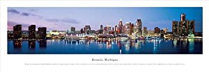 (14x40) James Blakeway (Detroit, Michigan, Series 3) Panoramic Art Poster Print