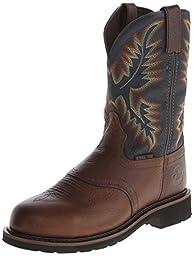 Justin Original Work Boots Men\'s Stampede Steel Toe Work Boot,Copper Kettle Rowdy Steel Toe,10.5 D US