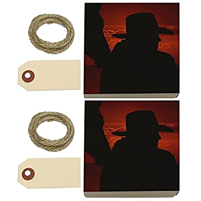 Cowboy with Horse Silhouette Kraft Gift Boxes Set of 2