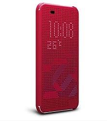 buy Htc Desire 820 Mini, Desire 620, Desire D820Mu Anoke@ Dey Dot Luxury Flip Slim Dot View Cover Case (Dot Red)