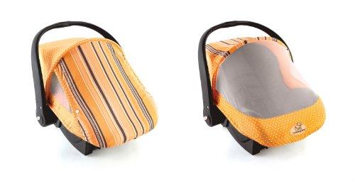 Sun & Bug Cover - Orange Stripe front-95579