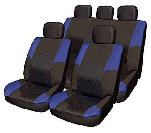 RENAULT TRAFIC SPORT DELUXE BLACK//BLUE VAN SEAT COVERS SINGLE DOUBLE