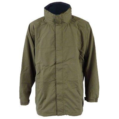 Mens Khaki Green / Navy Tayberry Granger Waterproof Rain-Jacket Coat