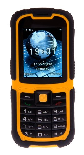 TTsims TT26 Tough Waterproof IP67 Rugged Dual Sim Mobile Phone - Yellow/Black