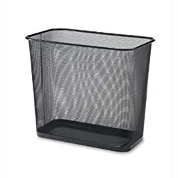 Ybm Home Steel Mesh Rectangular Open Top Waste Basket Bin Trash Can 8x12x12 Inches 1103 (1, Black)