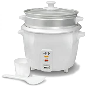CuiZen CRC-2016ST 8-Cup (Uncooked) 16-Cup (Cooked) Rice Cooker with Steam Tray, White