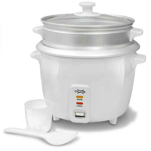 Cuizen Crc-2016St 8-Cup (Uncooked) 16-Cup (Cooked) Rice Cooker With Steam Tray, White front-19908