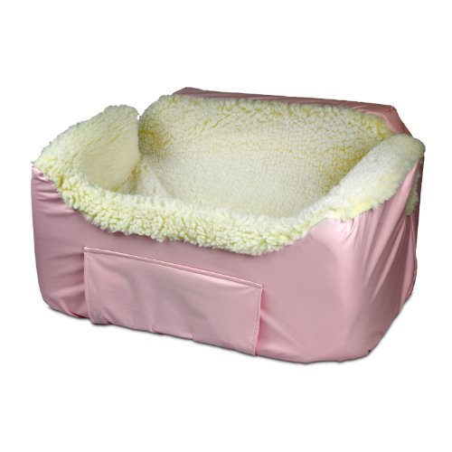 Snoozer Lookout Ii Pet Car Seat, Large, Baby Pink front-881445