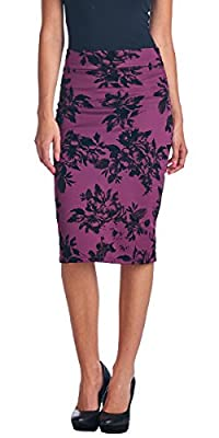 Popana Mid Length High Waist Women's Pencil Skirt