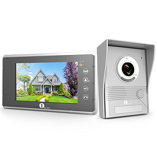 1byone 7 zoll video t rsprechanlage lcd monitor video berwachungsanlage kamera interkom system. Black Bedroom Furniture Sets. Home Design Ideas