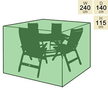 Housse Mobilier de Jardin Salon 4 Places Rectangulaire ...