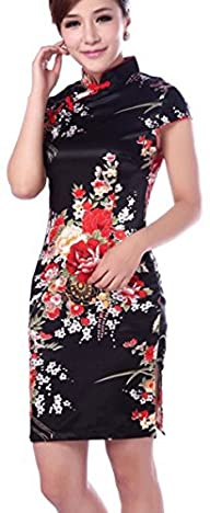 Blingland Flower Dress Cheongsam Embr…
