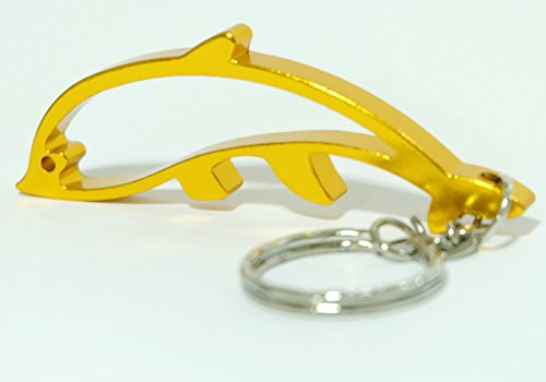 Gold Dolphin Keychain Ring Key Chain Bottle Openers Beer Bottle Opener Bar Small Beverage