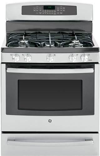 "Ge Profile Series Pgb940Sehss 30"" Freestanding Gas Range With 5 Sealed Burners, Reversible Cast-Iron Griddle/Grill, Center Oval Burner, Brillion-Enabled Technology And Lp Gas Convertible"
