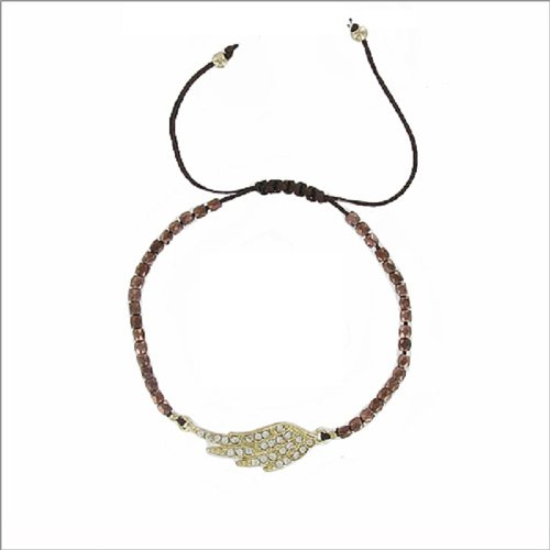 JOA Angel Wing W Beads String Band Bracelet #040524
