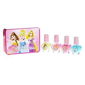 Disneyprincess Girl's Princess Kids 4 Pk Nail Polish Set In Multicolouredpastels