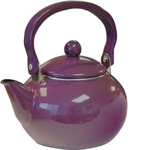 Calypso Basics 2-Quart Non-Whistling Teakettle, Plum by Reston Lloyd