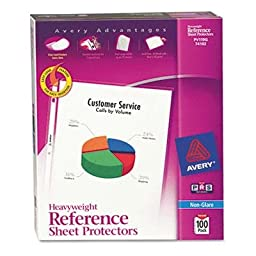 Avery - 2 Pack - Top-Load Poly Sheet Protectors Heavy Gauge Letter Nonglare 100/Box \