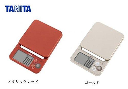 タニタ(TANITA)デジタルクッキングスケール JIS認定商品 KJ-202 メタリックレッド