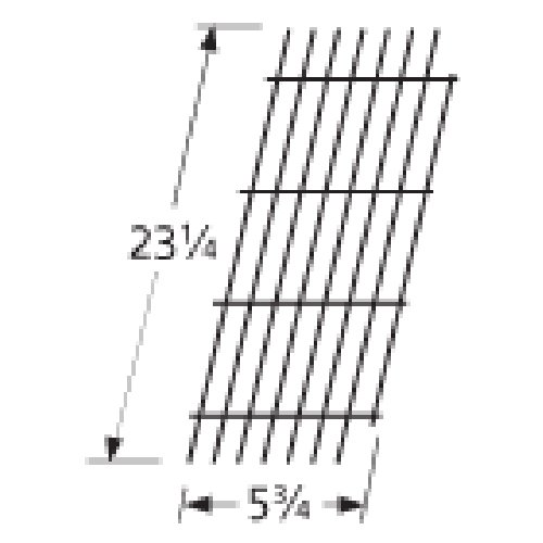 Music City Metals 54921 Porcelain Steel Wire Cooking Grid Replacement for Select Viking Gas Grill Models