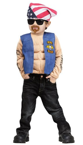 Fun World Little Boys' Mini Biker Costume - Biker Halloween Costume