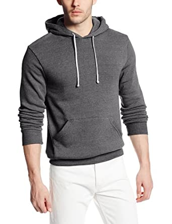 Alternative Mens Challenger Eco-Fleece Pullover Hoodie X-Small Eco Grey