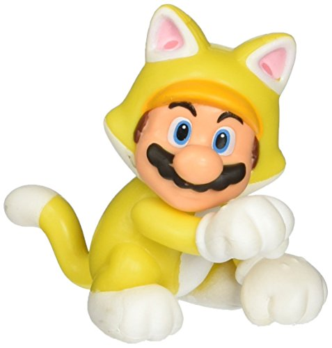 "World of Nintendo 91424 2.5"" Cat Mario Action Figure"