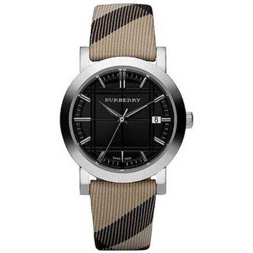 Burberry BU1772 classic nova check strap black dial women watch