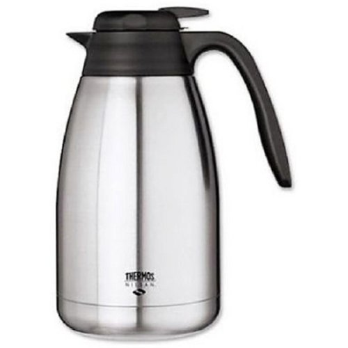 Thermos S/S 50 Oz Tabletop Vacuum Carafe with Push Button Lid